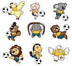 cartoon animal soccer player icon Stock Photo - Royalty-Free, Artist: notkoo2008                    , Code: 400-04273912
