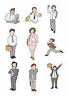 cartoon business people Stock Photo - Royalty-Freenull, Code: 400-04273940