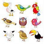 cartoon birds icon Stock Photo - Royalty-Free, Artist: notkoo2008                    , Code: 400-04273970