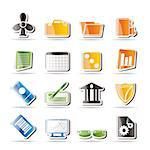Simple Business and Office Icons - Vector Icon Set 2 Stock Photo - Royalty-Free, Artist: stoyanh                       , Code: 400-04274053