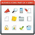 illustration set of classic business icons in a modern style Stock Photo - Royalty-Free, Artist: joingate                      , Code: 400-04274124