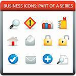 modern business icon set of illustrations in colour Stock Photo - Royalty-Free, Artist: joingate                      , Code: 400-04274126