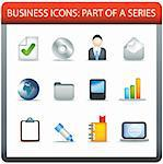 modern business icon set of illustrations in colour Stock Photo - Royalty-Free, Artist: joingate                      , Code: 400-04274127