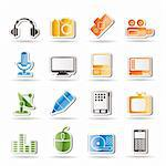 Media equipment icons - vector icon set Stock Photo - Royalty-Free, Artist: stoyanh                       , Code: 400-04274378