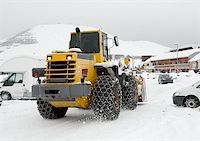 snow plow truck - Snowplow machine in winter in an alpine region Stock Photo - Royalty-Freenull, Code: 400-04274525