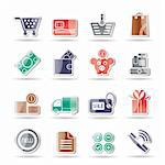 Online shop icons - vector icon set Stock Photo - Royalty-Free, Artist: stoyanh                       , Code: 400-04274620