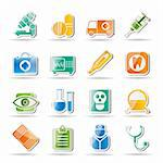 medical, hospital and health care icons - vector icon set Stock Photo - Royalty-Free, Artist: stoyanh                       , Code: 400-04274630