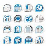 Simple Business and Office  Internet Icons - Vector Icon Set Stock Photo - Royalty-Free, Artist: stoyanh                       , Code: 400-04274983