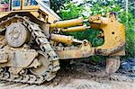 Bulldozer working Stock Photo - Royalty-Free, Artist: stoonn                        , Code: 400-04275001
