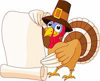Illustration of Thanksgiving turkey holding scroll Stock Photo - Royalty-Freenull, Code: 400-04275517