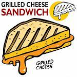 An image of a Grilled Cheese Sandwich. Stock Photo - Royalty-Free, Artist: cteconsulting                 , Code: 400-04275823