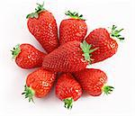 Few Strawberries isolated on white Stock Photo - Royalty-Free, Artist: serezniy                      , Code: 400-04277002