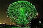 Giant ferris wheel at night, Tokyo Japan Stock Photo - Royalty-Free, Artist: yuriz                         , Code: 400-04277248