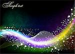 Christmas or New Year abstract shine background. Vector illustration Stock Photo - Royalty-Free, Artist: emaria                        , Code: 400-04278527