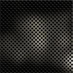 Shiny perforated metal texture Stock Photo - Royalty-Free, Artist: kirstypargeter                , Code: 400-04278757