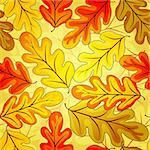 Floral seamless autumn`s pattern with colorful  leaves (vector EPS10) Stock Photo - Royalty-Free, Artist: OlgaDrozd                     , Code: 400-04279579