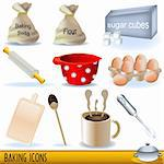 Set of colored illustration of baking icons. Stock Photo - Royalty-Free, Artist: Stiven                        , Code: 400-04280000