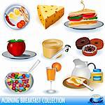 A  collection of different colored breakfast icons. Stock Photo - Royalty-Free, Artist: Stiven                        , Code: 400-04280006