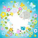 nature background with flowers and animals Stock Photo - Royalty-Free, Artist: dip                           , Code: 400-04280787