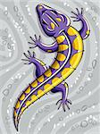 Lizard, vector stylized illustration, layered