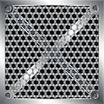 Perforated metallic grid with hexagonal holes over black Stock Photo - Royalty-Free, Artist: pnog                          , Code: 400-04281458