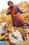 figures representing nativity scene on white background Stock Photo - Royalty-Free, Artist: nito                          , Code: 400-04281941