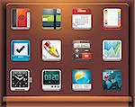 Mobile devices apps/services icons. Part 4 of 12 Stock Photo - Royalty-Free, Artist: tele52                        , Code: 400-04281973