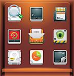 Mobile devices apps/services icons. Part 8 of 12 Stock Photo - Royalty-Free, Artist: tele52                        , Code: 400-04281977