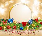 christmas garland with place for text Stock Photo - Royalty-Free, Artist: avian                         , Code: 400-04282216