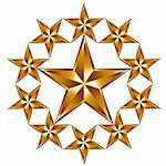 10 golden stars composition. Emblem or logo Stock Photo - Royalty-Free, Artist: Sylverarts                    , Code: 400-04282743