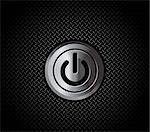 The mettal button power on black metal pattern Stock Photo - Royalty-Free, Artist: sermax55                      , Code: 400-04282863