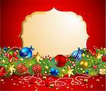 christmas garland with place for text Stock Photo - Royalty-Free, Artist: avian                         , Code: 400-04282880