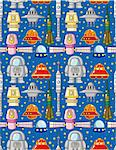 seamless space pattern Stock Photo - Royalty-Free, Artist: notkoo2008                    , Code: 400-04284379