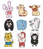 doodle animal Stock Photo - Royalty-Freenull, Code: 400-04284382