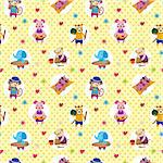seamless summer animal pattern Stock Photo - Royalty-Free, Artist: notkoo2008                    , Code: 400-04284448