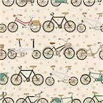 seamless bicycle pattern Stock Photo - Royalty-Free, Artist: notkoo2008                    , Code: 400-04284463