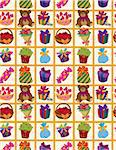 seamless gift pattern Stock Photo - Royalty-Free, Artist: notkoo2008                    , Code: 400-04284515