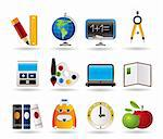 School and education icons - vector icon set Stock Photo - Royalty-Free, Artist: stoyanh                       , Code: 400-04285225