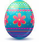 Easter Egg. Vector illustration over white. EPS 8, AI, JPEG Stock Photo - Royalty-Free, Artist: jara3000                      , Code: 400-04285857