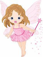 Illustration of Cute little baby fairy in fly Stock Photo - Royalty-Freenull, Code: 400-04286128