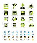 Digital Camera  Performance - Vector Icon Set  - 3 colors included