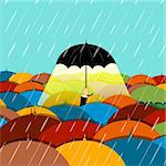 illustration of raining season