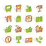 Online shop icons - vector icon set Stock Photo - Royalty-Free, Artist: stoyanh                       , Code: 400-04291309