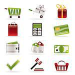 Online shop icons - vector icon set Stock Photo - Royalty-Free, Artist: stoyanh                       , Code: 400-04292562