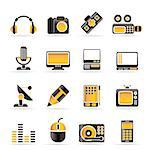 Media equipment icons - vector icon set Stock Photo - Royalty-Free, Artist: stoyanh                       , Code: 400-04292596