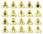 danger and industry icons - vector icon set Stock Photo - Royalty-Free, Artist: stoyanh                       , Code: 400-04292637