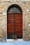 Close-up Image Of Wooden Ancient Italian Door Stock Photo - Royalty-Free, Artist: gkuna                         , Code: 400-04292698