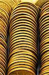 Close up of the golden coin stacks Stock Photo - Royalty-Free, Artist: ElnurCrestock                 , Code: 400-04292927
