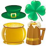 Set Saint Patrick. Illustration in vector format EPS Stock Photo - Royalty-Free, Artist: orensila                      , Code: 400-04292966