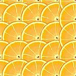 Abstract background with citrus-fruit of orange slices. Seamless pattern. Vector illustration. Stock Photo - Royalty-Free, Artist: boroda                        , Code: 400-04293118